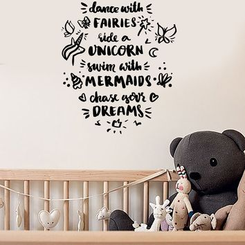 Vinyl Wall Decal Nursery Quote Baby Kids Room Art Home Decor Stickers Mural (ig5664)
