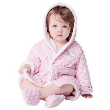 Toddler Plush Robe and Slipper Set. Free Shipping plus 50% OFF