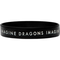 Imagine Dragons Men's Logo Rubber Bracelet Black
