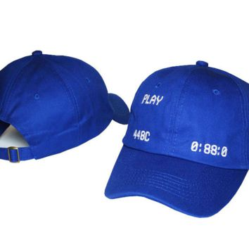 Blue Play Embroidered Adjustable Cotton Baseball Golf Sports Cap Hat