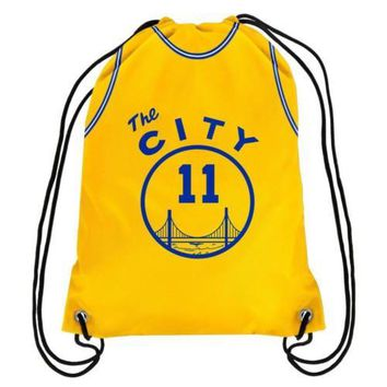 """* Golden State Warriors """"The City"""" Drawstring Backpack Gym Bag - Klay Thompson"""