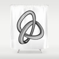 Shape 1 Shower Curtain by White Print Design