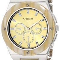 Vernier Women's VNR11018 Round Chrono Look Fashion Watch