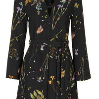 Botanical T-Bar Dress - Black
