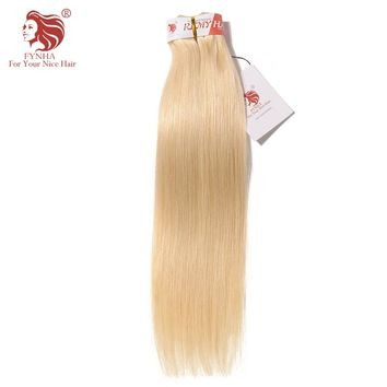[FYNHA] Brazilian Straight Remy Hair Bundles 14-24inch #613 Color 100% Human Hair Weaving Free Shipping