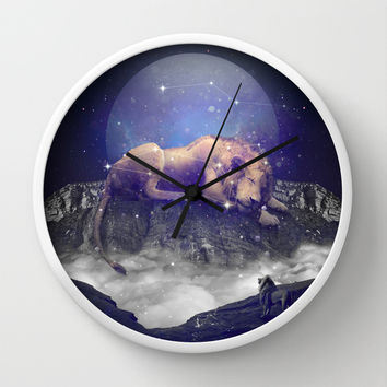 Under the Stars III (Leo) Wall Clock by Soaring Anchor Designs
