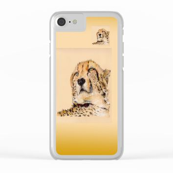 Season of the Cheetah Clear iPhone Case by michael jon