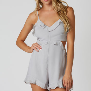 Ruffle Party Cut Out Romper