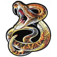 Rattle Snake Large Back Patch