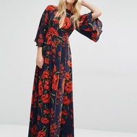 Y.A.S Nehmat Queen Maxi Dress with Kimono Sleeve at asos.com
