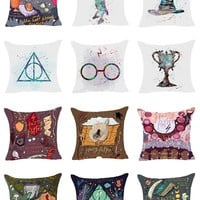 Harry Potter Symbols and Movie Title Pillow Covers