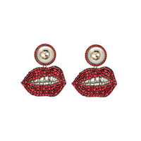 Gucci Mouth earrings with crystals