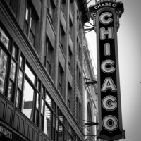 Chicago sign, Fine Art Photography, 8 x 10 Chicago, Home Decor, Office Decor, City Photography