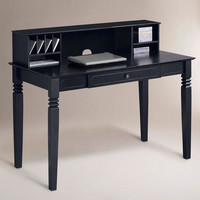 Black Douglas Desk with Hutch - World Market
