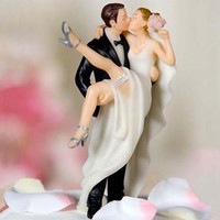 Wedding decoration kits CUSTOM HAIR AVAILABLE Over the Threshold Wedding Cake Topper Bride and Groom