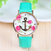 Women's Mint Anchor with Rose Watch