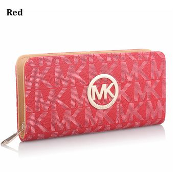 MK MICHAEL KORS Fashion Women's Zipper Wallet Wallet Clutch Bag Crossbody Bag Red