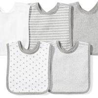 Moon and Back Baby Set of 5 Organic Reversible Bibs