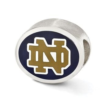 Sterling Silver & Enamel University of Notre Dame Collegiate Bead