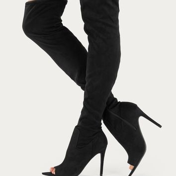 5f0c207a136 Best Peep Toe Thigh High Boots Products on Wanelo