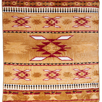 Native American Blanket, Wyndham House Blanket, Brown