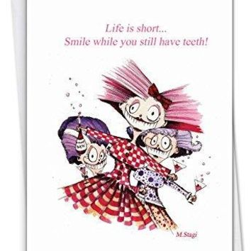 Life Is Short - Funny Birthday Greeting Card, with Envelope - Free Shipping