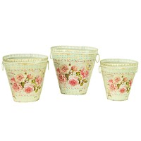 French country vintage planter vases Dolce Mela DMMV743-S3