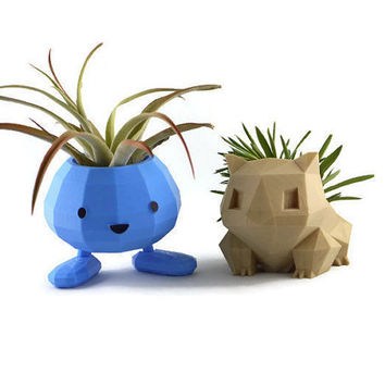 Bulbasaur and Oddish Pokemon Planter Gift Set / Pokemon Planter / Oddish Planter  / Bulbasaur Planter / Pokemon Go Planter / Pokemon  / Cute
