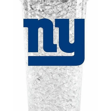 Duckhouse Crystal Tumbler With Straw - New York Giants
