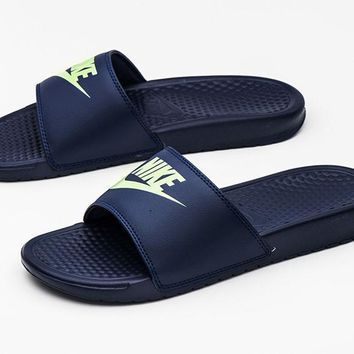 Nike Benassi JDI Slides (343880-407) Sports Sandals Slippers Flip Flops
