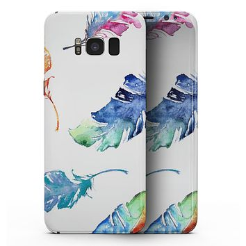 Colorful Watercolor Feathers - Samsung Galaxy S8 Full-Body Skin Kit