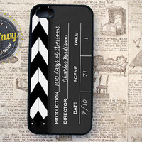 Customizable Clapboard Slate iPhone 5 / 5s Silicone Rubber case