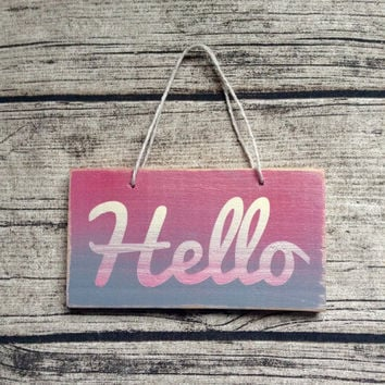 Personalised sign. Small painted sign, small sign, painted sign, hanging sign, quote, custom orders welcome