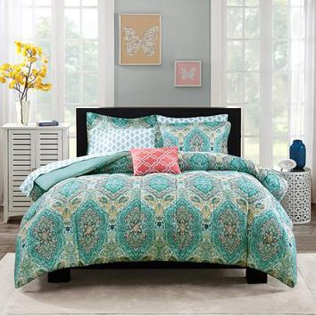 Mainstays Bed-In-A-Bag Monique Paisley Bedding Set - Walmart.com
