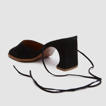 By Far Shoes / Iris Heel in Black Suede