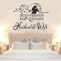 Creative Best friends for life husband and wife Wall Decoration Stickers Family Wall Decal Decorative Stickers Vinyl Wall Sticker = 1932790980