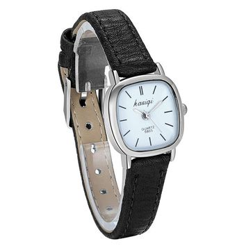 Ladies Leather Female Quartz Watch