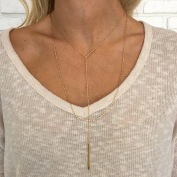 Tightrope Gold Layered Necklace