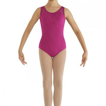 Bloch Girl's Heart Mesh Back Tank Leotard