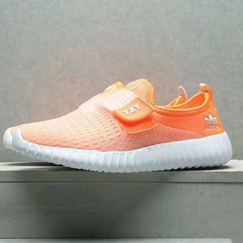 """ADIDAS""Fashion running Classic coconut shoes couples sports shoes orange white soles"
