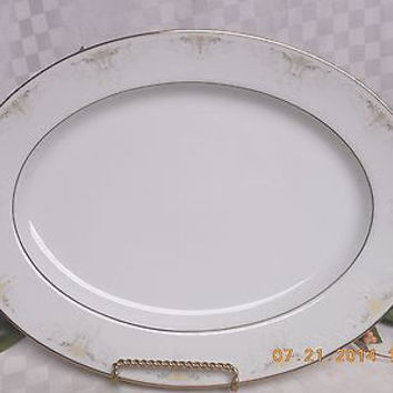 Noritake China Dinnerware Japan  Glendola Pattern #: 2220 Oval serving Platter