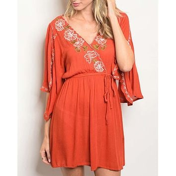 Toujours Dress in Rust