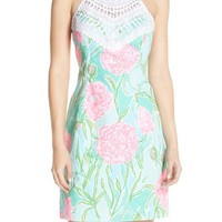 Lilly Pulitzer® 'Pearl' Crochet Neck Cotton Shift Dress | Nordstrom