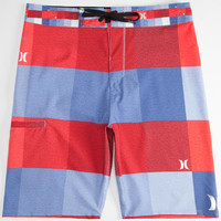 Hurley Phantom Heathered Kingsroad Mens Boardshorts Red/White/Blue  In Sizes