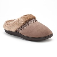 Women's Isotoner Nola Microsuede Clog Slippers | null