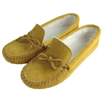 Men's Soft-Sole Moosehide Suede Moccasins - 403