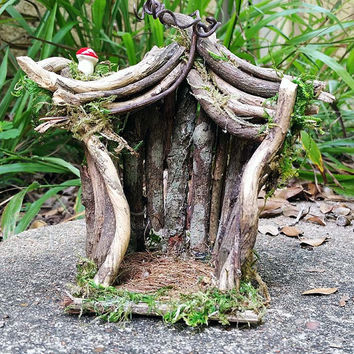 Outdoor Fairy House Garden Terrarium