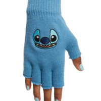 Disney Lilo & Stitch Face Fingerless Gloves