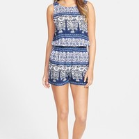 Junior Women's One Clothing Print Romper,