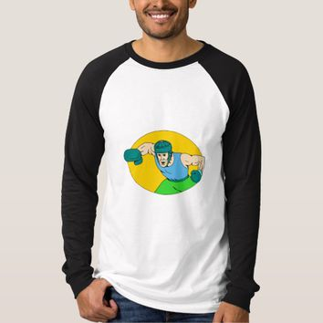 Amateur Boxer Knockout Punch Drawing T-Shirt
